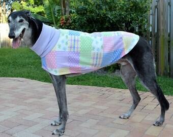 """Greyhound Coat. """"Patchwork Quilt Jammie / Daycoat""""- Greyhound Sizes"""