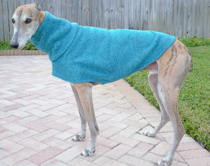 Greyhound Sweater - Teal - Greyhound Clothing -  Greyhound Sizes