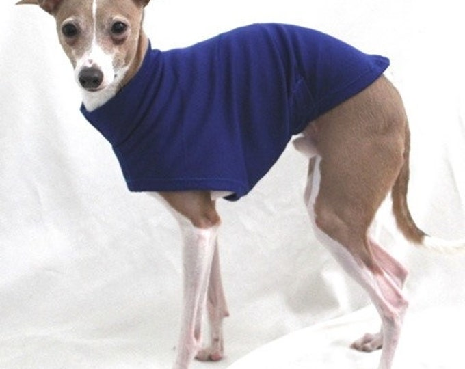 "Italian Greyhound Clothing. ""Dark Royal Blue Tee"" -  Italian Greyhound Sizes."