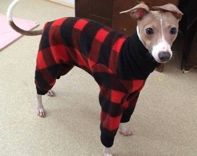 "Dog Pajamas. ""Lumberjack Jams"" - Italiang Greyhound and small dog sizes"