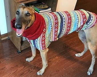 "Greyhound Sweater. ""Ugly Christmas Sweater"" - Greyhound Sizes"