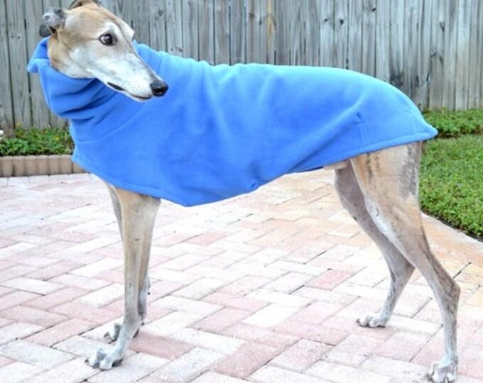 Greyhound Coat - Blue Dog Coat - Dog Jacket - Pet Clothing - Fleece Coat For Greyhound - Jacket for Greyhound - Greyhound Clothing