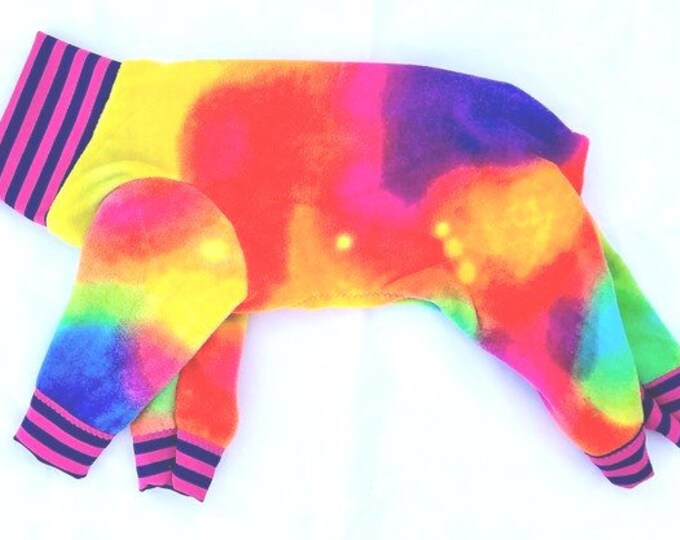 "Dog Pajamas. ""Tie Dye Jams"" - Italiang Greyhound and small dog sizes"