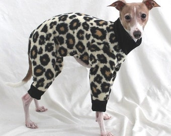 "Dog Pajamas. ""The Original Cheetah Pant"" - Italian Greyhound and small dog sizes"