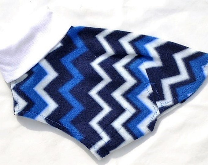 "Italian Greyhound Clothing. ""Blue Chevron Jammie /Daycoat"" - Italian Greyhound Sizes"