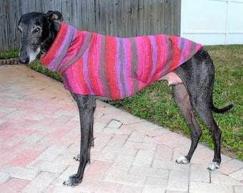"Greyhound Sweater. ""Red & Purple Tie Dye"" -  Greyhound Sizes"