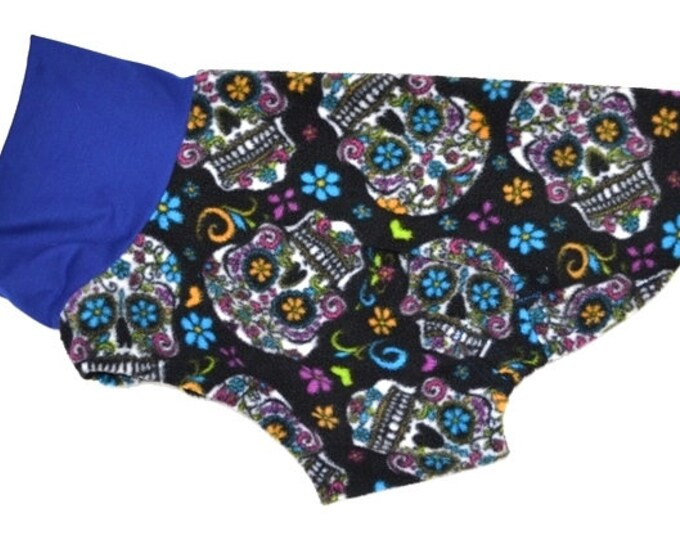 """Whippet Jammie. """"Candy Skulls Jammie / Daycoat"""" - Whippet Sizes"""