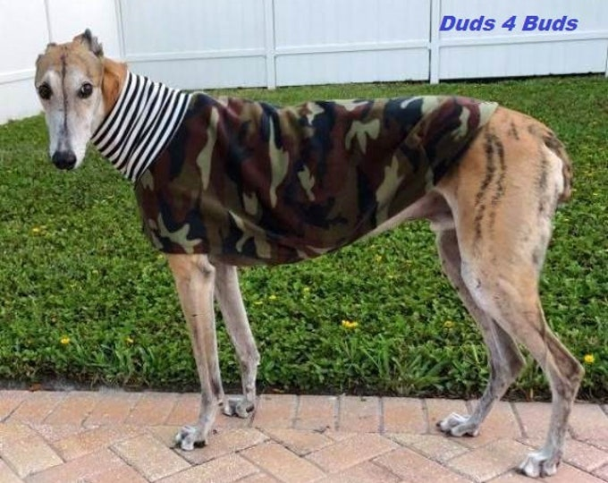 Greyhound Clothing - Greyhound Coat - Camoflouge Daycoat/Jammie - Greyhound Sizes