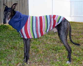 "Whippet Clothing. ""Multi-Stripe Sweater"" - Whippet Sizes"