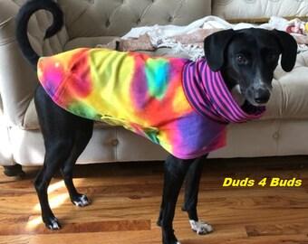 Greyhound Clothing - Greyhound Coat - Tie Dye Daycoat/Short Jacket - Greyhound Sizes