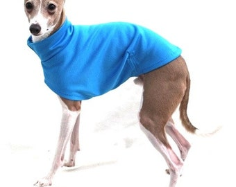 "Dog Clothing. Italian Greyhound Clothing. ""Surf Blue Tee"" - Italian Greyhound Sizes."