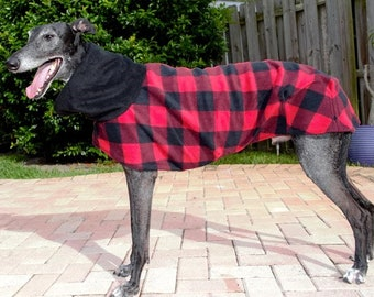 "Greyhound Coat. ""Lumber Jack Plaid"" - Greyhound Sizes"