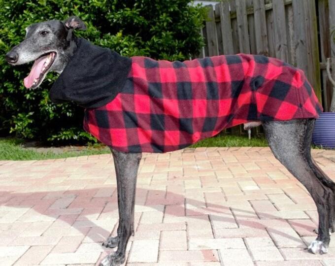 """Greyhound Coat. """"Lumber Jack Plaid"""" - Greyhound Sizes"""