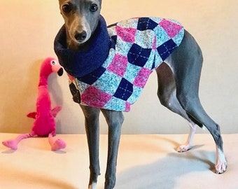 "Italian Greyhound Clothing.  ""Aunt Bette's Cardigan"" - Italian Greyhound sizes"