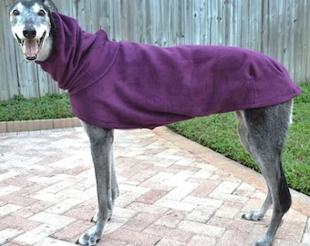 "Greyhound Coat. ""Heavy Plum Cocoon Coat"" - Greyhound Sizes"