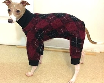 "Dog Pajamas. ""Argyle Jumper"" - Italian Greyhound and small dog sizes"