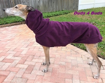 Greyhound Coat - Passion Plum Cocoon Coat - Winter Coat For Greyhound - Greyhound Sizes
