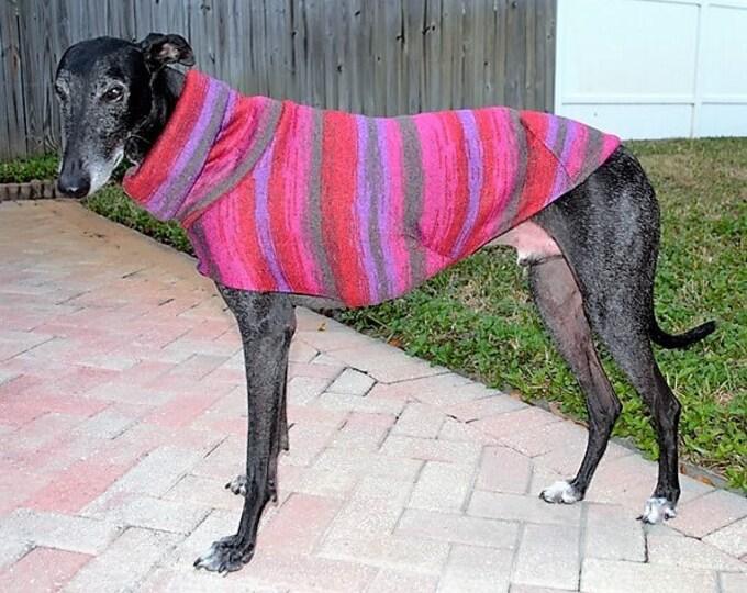 """Greyhound Sweater. """"Red & Purple Tie Dye"""" -  Greyhound Sizes"""