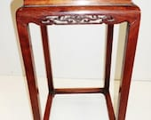 Chinese Ming Dy. antique 1600s Huanghuali rosewood pot stand table open works