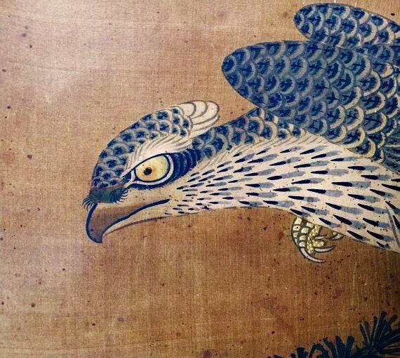 Rouleau de peinture sur soie ancienne à lencre japonaise fin   Etsy f6c7715d1f1
