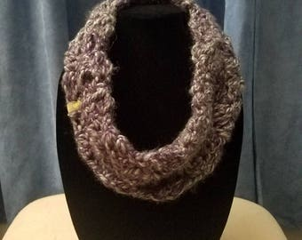 Gradient Gray Chunky Cowl Scarf