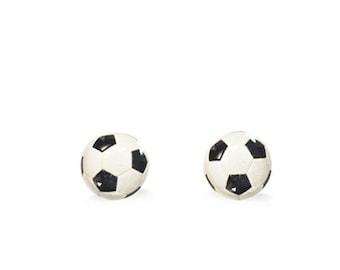 Ball Studs - Ball Stud Earrings - Soccer Ball Stud Earrings - Soccer Mom - Surgical Steel Stud Earrings - Hypoallergenic Stud Earrings Ball
