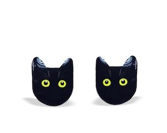 Cat Earrings - Cat Stud Earrings - Cat Jewelry - Animal Cat Earrings - Cats - Cat Gift - Cat lover - Black Cat - Cat Studs - Animal Earrings