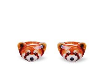 23e479a40 Red Panda Earrings - Red Panda Stud Earrings - Panda - Jewelry - Animal - Stud  Earrings
