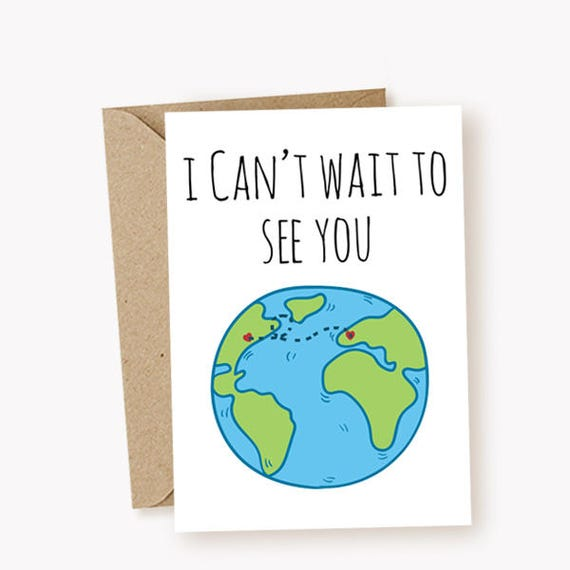 I miss you card i cant wait to see you card funny greeting etsy image 0 m4hsunfo