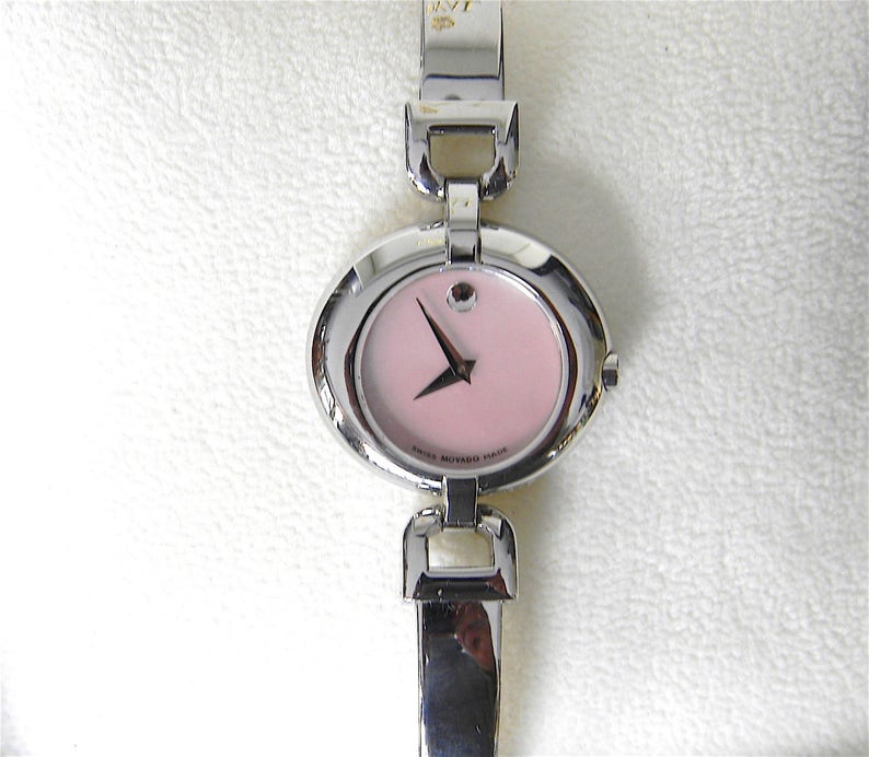 a0ec3df377a Ladies MOVADO VIVO Pink Museum Dial Stainless Steel Swiss