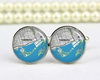 Toronto Cufflinks, Toronto map cufflinks, custom any city map, photo, personalized cufflinks, custom wedding cufflinks, groom cufflinks