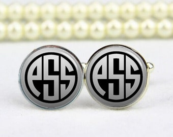 monogram cufflinks, monogram jewelrys, custom any text, colours, photo, personalized cufflinks, custom wedding cufflink, groom cufflinks