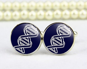 DNA Cufflinks, Double Helix DNA, RNA Cufflinks, custom any text, photo, personalized cufflinks, custom wedding cufflinks, groom cufflinks