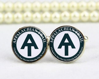 appalachian trail cufflinks, Appalachian Trail, custom any text or photo, personalized cufflinks, custom wedding cufflinks, groom cufflinks