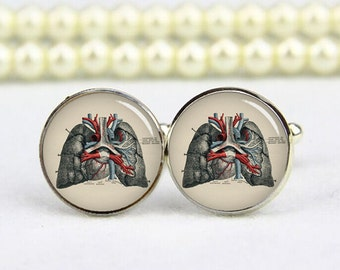 lung cufflinks, lung anatomy cufflinks, anatomy cuff links, anatomist cufflinks, doctor cufflinks, personalized cufflinks, wedding gifts