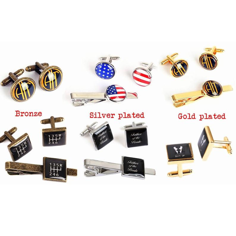 groom cufflinks tie clip Vintage bald eagle cufflinks personalized american flag cufflinks custom wedding cufflinks Patriots cuff links