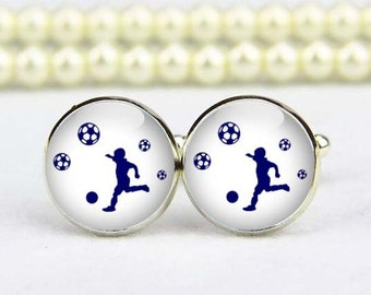 soccer boy cufflinks, soccer cuff links, football, custom any text, photo, personalized cufflinks, custom wedding cufflinks, groom cufflinks