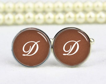 customized initial cufflinks, monogram, custom any text, background, photo, personalized cufflinks, custom wedding cufflink, groom cufflinks