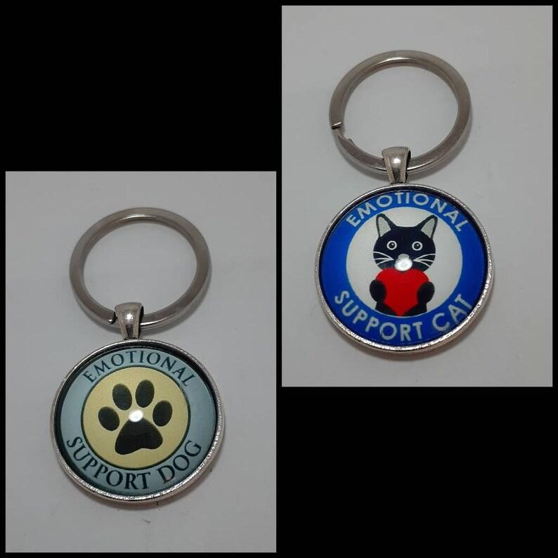 Emotional support dogcat keychain #0945