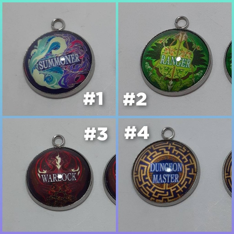 2 pcs Dungeon and dragons charms #76243