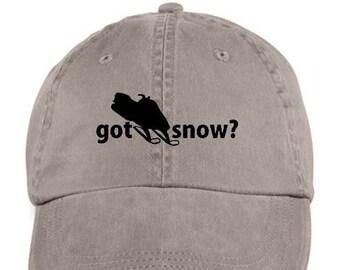 SNOWMOBILE Winter Outdoor Sport Baseball Style Cap Hat Vinyl Print 503c956b80ae