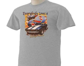 a251498b EVERYONE LOVES A '69 VINTAGE 1969 Classic Muscle Car Auto Transportation  Nostalgia T-Shirt