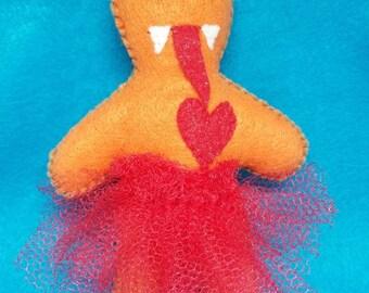 Orange Zombie Princess Voodoo Dolls