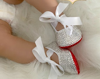 013edb4ed201f Baby girl shoe swarovski   Etsy