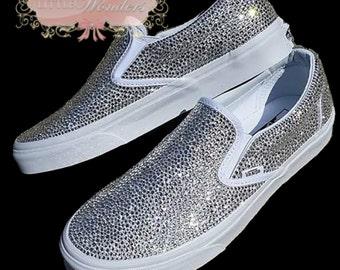 Swarovski Crystal Women Bling Vans Bridal Shoes 33b97acfb17b