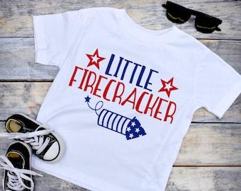 38ff1c97 Little Firecracker, 4th of July Shirt Boy, Boys 4th of July Shirt, Kids 4th  of July Shirt, Little Firecracker Shirt (4JY)