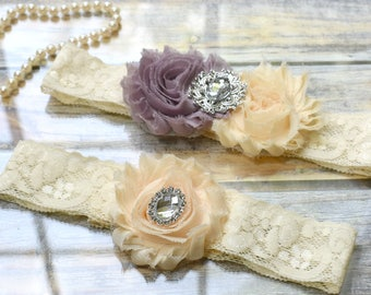 Wedding Garter, Custom Garter, Garter Set, Bridal Garter, Ivory Garter, Vintage Garter, Wedding Garter Set, Keepsake Garter, Toss Garter