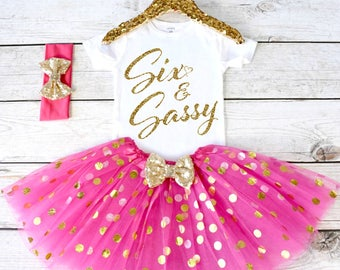 Girls Birthday Outfit Tutu Set Girl 6th S7 7BD HTPK