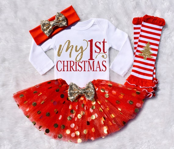 image 0 - My 1st Christmas. My 1st Christmas Outfit Girl. My First Etsy