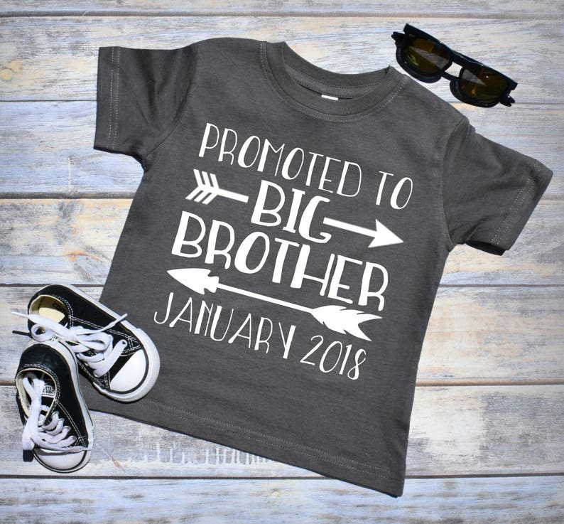 Promoted to Big Brother Shirt. Pregnancy Announcement Shirt. image 0